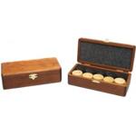 Afbeeldingen van Damstenen hout 32 cm in luxe houten kist
