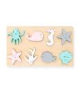 Afbeeldingen van Houten dierenpuzzel zeedieren Jollein