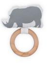 Afbeeldingen van Bijtring Ø 7 cm safari neushoorn Jollein