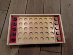 Afbeeldingen van Liggend houten 4 op een rij geschikt voor blinden en slechtzienden Van Dijk toys