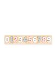 Afbeeldingen van Houten cijferpuzzel 1- 9 pastel roze Jollein