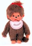 Bild von Monchhichi meisje met slab roze 20 cm
