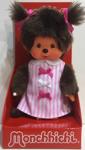 Bild von Monchhichi meisje pink ribbon jurk 20 cm