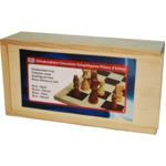 Afbeeldingen van Schaakstukken hout Bruin Blank Staunton maat 3. 77 mm.