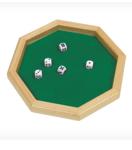 Afbeeldingen van Dobbelpiste dobbelsteenbak pokerpiste Goki