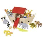 Afbeeldingen van Ark van Noach met 30 dieren hout  Goki