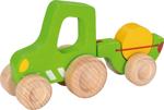 Afbeeldingen van Houten tractor met aanhanger met hooi Goki