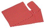 Picture of Poppenbedsetje deken, matras en kussentje - rood witte stip Goki