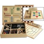 Bild von Reisset Houten spellen cassette met Dam, schaak, ludo en backgammon