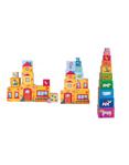 Afbeeldingen van Stapel toren stapelblokken 10-delig Woody