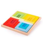 Bild von Bouw-puzzelset Doorgangen, cilinders en planken Primaire kleuren Bigjigs