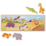 Afbeeldingen van Magnetisch speelbord Safari Bigjigs
