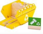 Afbeeldingen van Treingebouw Recycling container Bigjigs