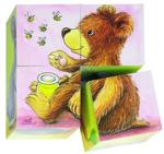 Afbeeldingen van Blokkenpuzzel Dierenjonkies 4 blokken Goki