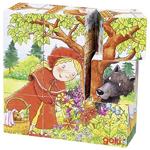 Afbeeldingen van Kubus blokkenpuzzel 9 blokjes Sprookjes Goki