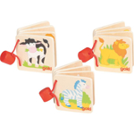 Afbeeldingen van Houten mini plaatjes boekjes Dieren Goki