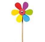 Afbeeldingen van Houten windmolentje kleurrijk  Goki
