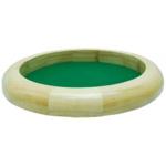 Afbeeldingen van Pokerpiste- dobbelpiste dobbelbak set blank hout met groen vilt 30 cm