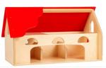 Afbeeldingen van Speelboerderij hout rood dak 3+ Van Dijk Toys