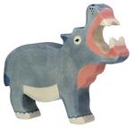 Image de Nijlpaard met bek open Holztiger