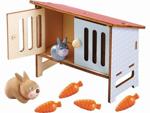 Afbeeldingen van Little Friends Konijntjes met konijnenhok Haba