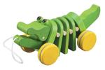 Afbeeldingen van Trekfiguur Dansende krokodil groen Plantoys