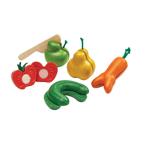 Afbeeldingen van Kromme groenten en fruit set kromkommer Plantoys