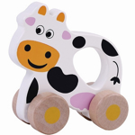 Afbeeldingen van Houten grijpauto rollende koe