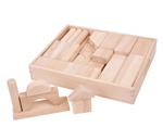 Afbeeldingen van Blank houten blokken groot in kist Bigjigs