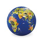Afbeeldingen van Speel bal natuurrubber Wereld Ø 13 cm