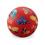 Afbeeldingen van Speel bal natuurrubber Kleine bouwer Bouw voertuigen Ø 18 cm