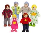 Afbeeldingen van Poppenhuis buig poppetjes gezin