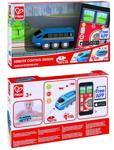 Afbeeldingen van Kunststof afstandbestuurbare locomotief voor op houten treinbaan met App, Hape