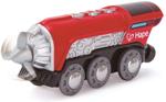 Afbeeldingen van Kunststof batterij aangedreven propeller locomotief voor houten treinbaan
