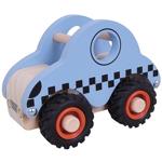 Afbeeldingen van Houten taxi met rubber wielen