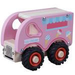 Afbeeldingen van Houten IJscowagen met rubber wielen