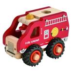 Afbeeldingen van Houten brandweerauto Simply for kids