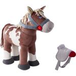 Afbeeldingen van Stoffen Speelpaard Joey met afneembaar zadel en hoofdstel 35 cm hoog Haba